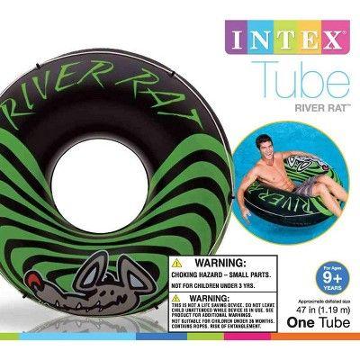 or River Intex River Rat 48-Inch Inflatable Tube Raft For Lake Pool 5 Pack