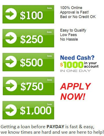Easy Approval Loans For Bad Credit