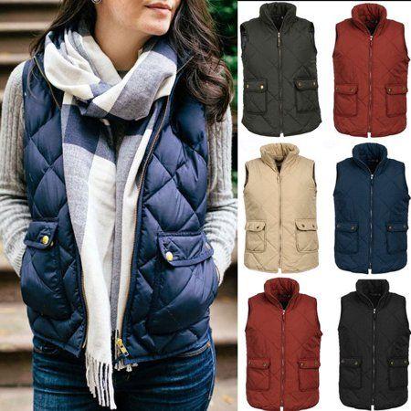 Free Shipping. Buy Plus Size Women Puffer Padded Vest Jacket Gilet Ladies  Sleeveless coat Snowsuit at… | Sleeveless coat, Womens sleeveless vest,  Padded vest jacket