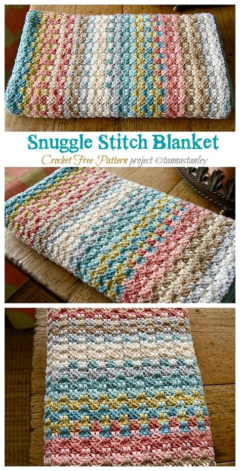 Crochet Baby Blanket Free Pattern, Crochet Blanket Stitches, Simple Crochet Blanket, Crochet Afghans, Loom Blanket, Striped Crochet Blanket, Crocheted Blankets, Afghan Blanket, Crochet Patterns For Blankets