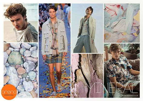 Key Seasonal Direction, S/S 2016, men's Mineral trend mood