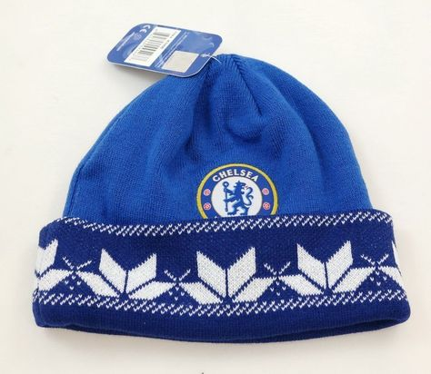 Premier League Official Chelsea FC Winter Ski Hat /& Scarf Gift Set