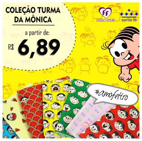 Turma Da Monica Em Feltro So Moldes Do Tema Turma Da Monica