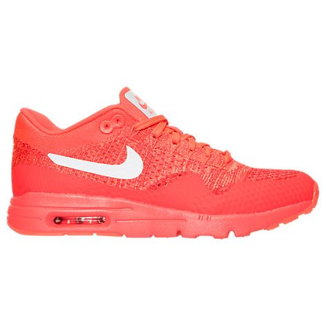 874c9e4c4c NIKE WOMENS AIR MAX 1 ULTRA FLYKNIT BRIGHT CRIMSON RED WHITE 843387 601