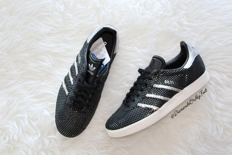 141be0c61 Bling Adidas Gazelle Shoes Hand Customized with Genuine Swarovski Crystals.  Perfect for yourself or that special someone! Size(s)  US Womens 6
