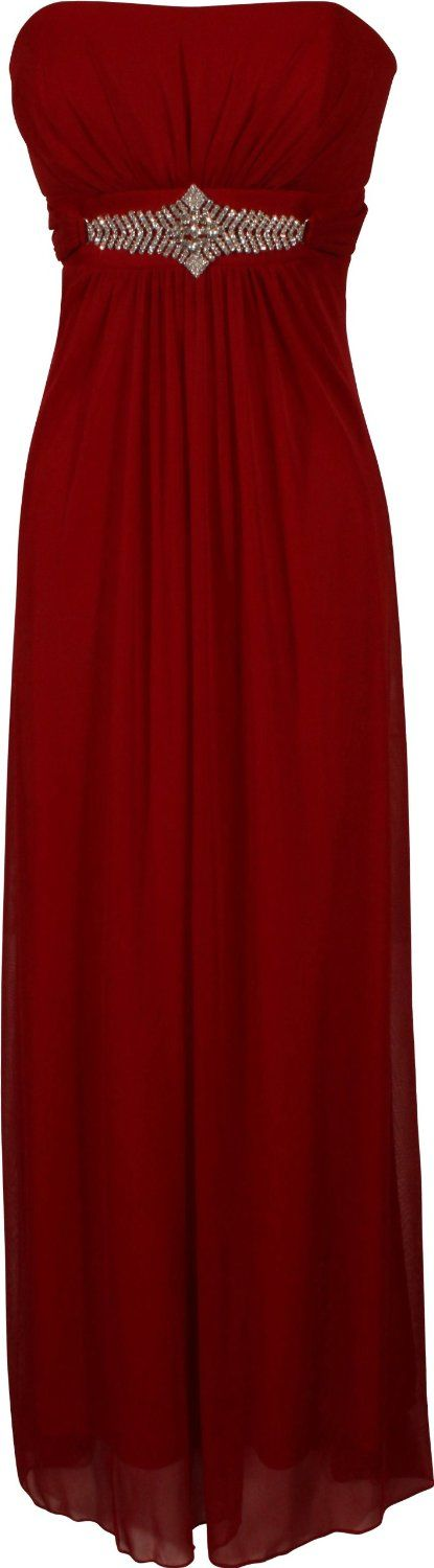 Classic, red, simple and chic.  I like the embellished empire waist.