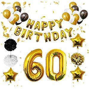 60 Geburtstag Dekoration 60 Geburtstag Luftballons Happy