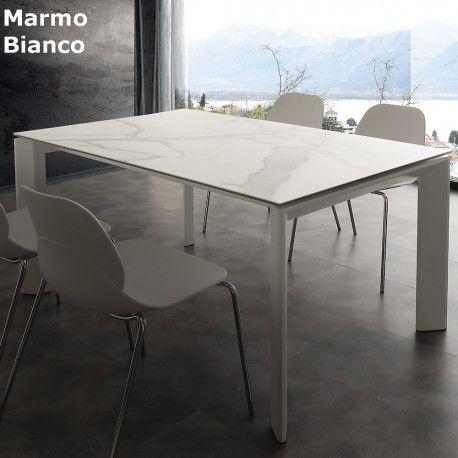 Tavolo In Marmo Bianco.Tavolo Allungabile Ceramique Nel 2019 Tavolo Allungabile