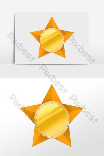 ومن ناحية رسم النجوم الذهبية زخرفة شرف التوضيح شارة صور Png Psd تحميل مجاني Pikbest Star Decorations How To Draw Hands Golden Star
