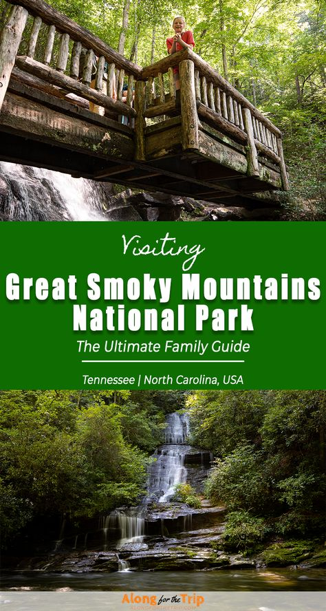 Great Smoky Mountains National Park will impress you with its rugged beauty and Appalachian charm. Even though it's America's busiest Park, there are plenty of quiet hikes and peaceful waterfalls to discover. Read all about the best things to do in Great Smoky Mountains National Park with our complete guide. It's got everything you need to plan a great trip to the Smokies! | #GreatSmokyMountains #NPS #familytravel #NationalParks #SmokyMountains