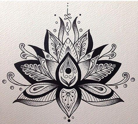 Mandalas Con Flor De Loto Significado Y Disenos Para Descargar Tatuaje De Mandala De Loto Mandalas Flor De Loto Flor De Loto Significado