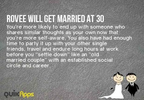 At What Age Will You Get Married?