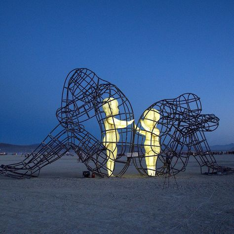Stunning Sculpture Of Children Trapped Inside Adult Bodies Shows That Love Always Shines Through