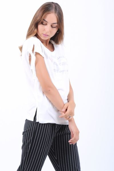 Bayan Tisort More Yazili Beyaz T Shirt Modern Kisa Muhafazakar Giyim Butik Erkek Kombin Kapali Toptan Klasik Tesettur Akses Giyim Trendler Tisort