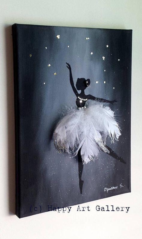Swan Ballerina gift for kids nursery room decor kids room