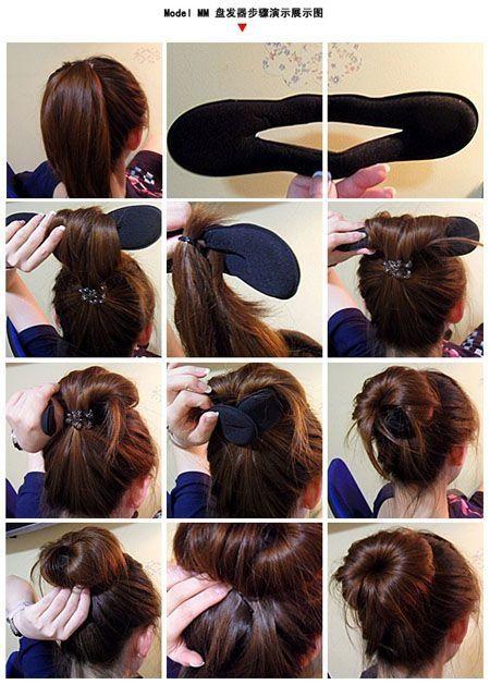 Flut Stil Schaum Schwamm Magic Bun Hair Styling Maker Werkzeug Clip Twist X