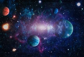 Outer Space Planets Children Backdrop Photo Studio Hu0095