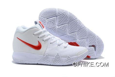 "purchase cheap e0a5c b8009 Nike Kyrie 4 ""Half Heart"" White Red New Year Deals"