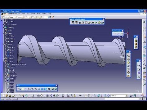 A* impeller catia v5 gsd training - sweep with laws