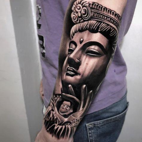 Buddhadone 2 Weeks Ago On Sylvester Merci Full Arm In Progress Tatouage Tattoo Tattoos Tatts Buddhata Buddha Tattoos Buddha Tattoo Sleeve Sleeve Tattoos