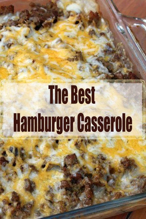 Looking for easy casserole recipes? Make the best hamburger casserole recipe you will ever need.I'm excited today to show you how to make hamburger casserole. My kids devoured this easy dinner idea. Best Hamburger Casserole Recipes, Hamburger Meat Recipes Ground, Hamburger Dishes, Potatoe Casserole Recipes, Ground Beef Casserole, Easy Meat Recipes, Cooking Recipes, Easy Meals With Hamburger Meat, Hamburger Potato Soup