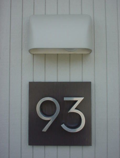 Mad for MidCentury MidCentury Modern Address Numbers Love the