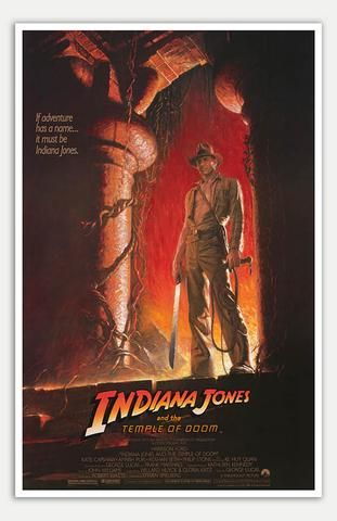 1984 Harrison Ford movie poster print 11 Indiana Jones and the Temple of Doom