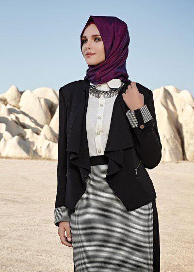 Alvina Tesettur Ceketli Takim Modelleri Moda Tesettur Giyim Moda Stilleri Moda Elbise Modelleri
