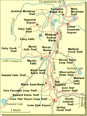 Yellowstone Hiking Trails I Lived In Montana For Years And - Yellowstone national park on map of us