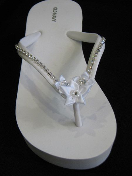 959369b1c Decorated Flip Flops for your beach wedding