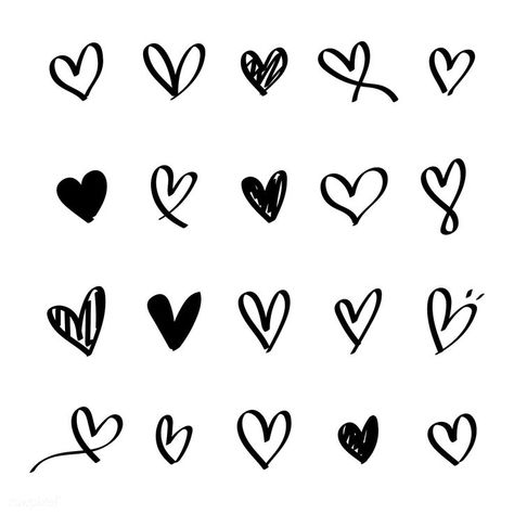 Collection of illustrated heart icons | free image by rawpixel.com / NingZk V. - #collection #FREE #heart #icons #Illustrated #Image #NingZk #rawpixelcom