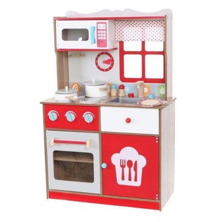 Kuchnia Drewniana Dla Dzieci Ecotoys Z Wyposazeniem Kitchen Appliances Kitchen Home