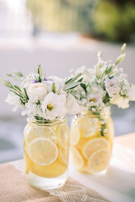 Add Some Zest! Summertime Citrus Wedding Inspo This citrus wedding inspo cannot be beaten! Nothing says summertime like the bold yellows and warm oranges of our favourite citrus fruits. Deco Floral, Floral Design, Lemon Party, Yellow Wedding, Wedding Styles, Wedding Themes, Wedding Ideas, Fall Wedding, Wedding Shower Decorations
