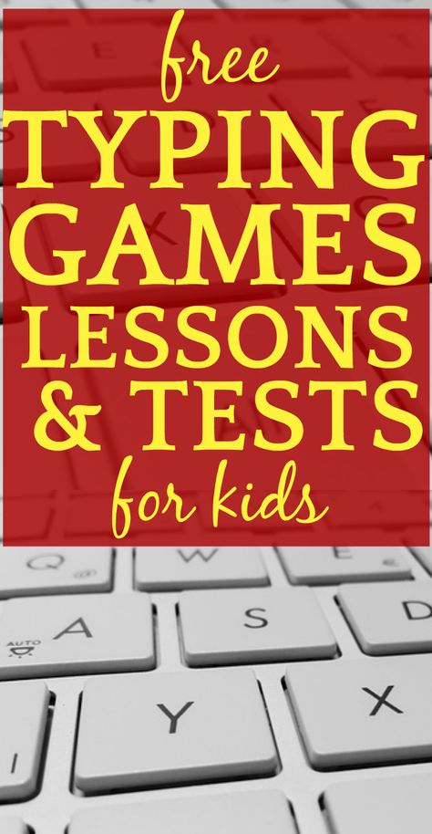 Free Typing Lessons and Games for Kids - Technology for Kids (Geek) - Free typing games, free typing lessons, typing tests, and keyboarding activity for elementary stude - Computer Games For Kids, Computer Lessons, Online Games For Kids, Free Games For Kids, Technology Lessons, Learning Games For Kids, Educational Games For Kids, Teaching Technology, Video Games For Kids