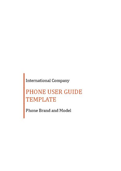 Professional User Manual template - Professional User Manual - free user guide template