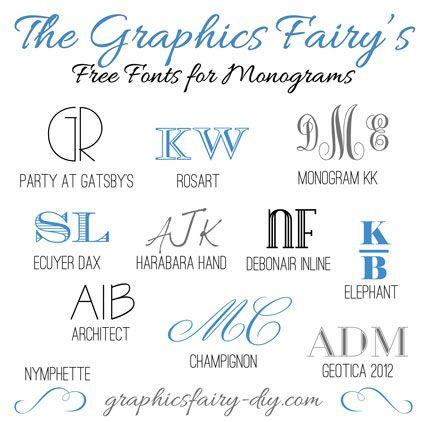 Favorite free fonts for creating monograms
