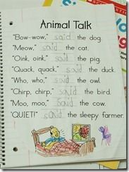 sight word poems, poetry journal