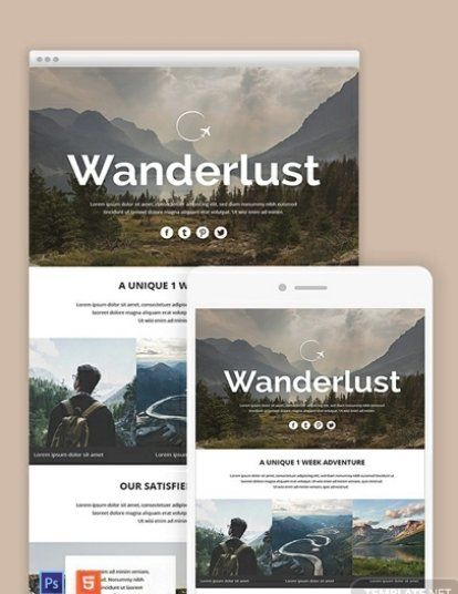Zurb is the foundation company for the html5 framework foundation,. Free Travel Email Newsletter Template Psd Html5 Email Newsletter Template Newsletter Templates Email Marketing Templates Free