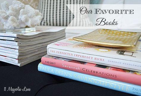 11 Magnolia Lane's favorite DIY/ Design/ Decorating books, with a few children's favorites, too.