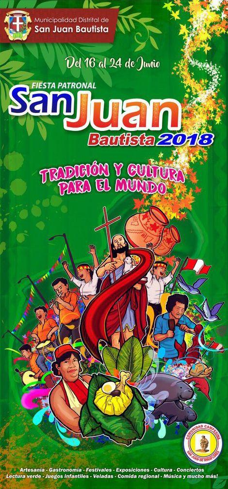 Fiesta Patronal San Juan Bautista 2018 San Juan Bautista Juan El Bautista Fiesta De San Juan