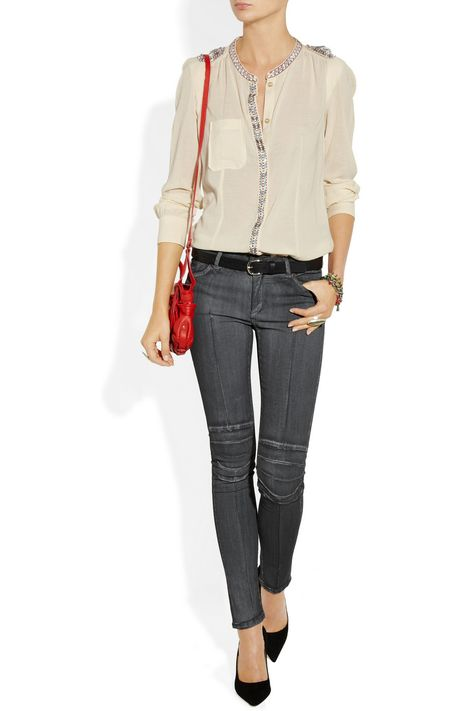 Superfine Rider motocross-style low-rise skinny jeans - 64% Off Now at THE OUTNET