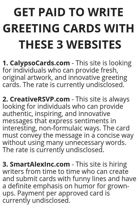 get paid to write greeting cards with these 3 websites