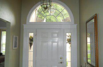 Image Result For Door And Half Moon Window Front Door Interior Window Trim Front Doors With Windows Window Trim Styles