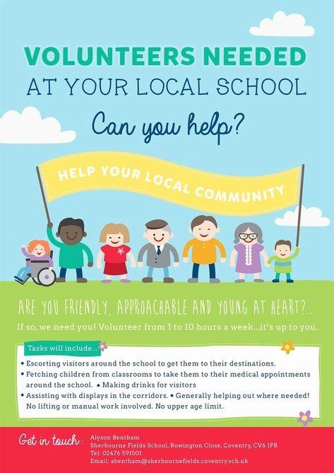 Free Volunteer Flyer Templates School Volunteer School Fund Volunteer Recruitment