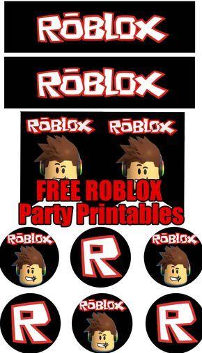 Roblox Birthday Party Printable Files Birthday Party Printables