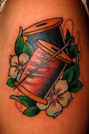 Needlewoman's tattoo