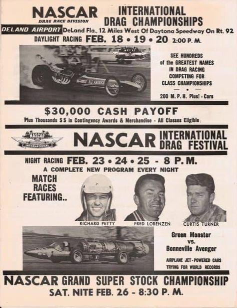 Metal Sign Vintage Look 1965 Rockingham American 500 Stock Car Race