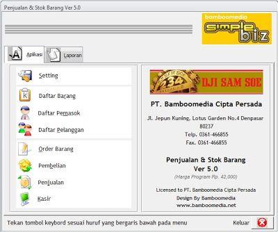 Sistem Penjualan 5 0 Aplikasi Kasir Untuk Toko Free Labels Software Blogger Tips