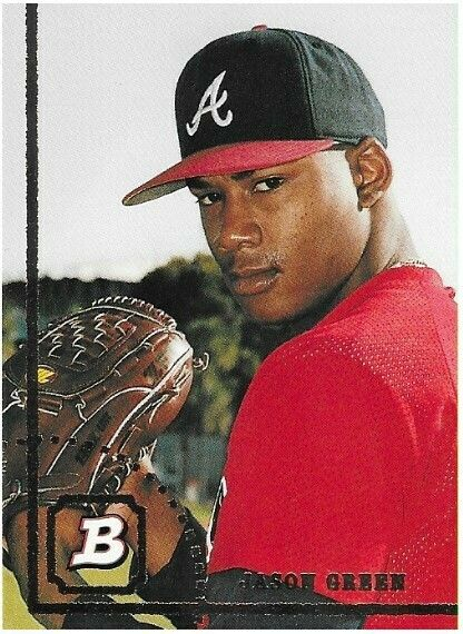 Green Jason Atlanta Braves Bowman 545 Baseball Trading Card 1994 Rookie Card Baseball Trading Cards Atlanta Braves Braves