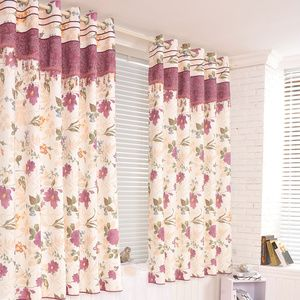 Stylish But Country Style Floral And Leaf Half Door Curtains